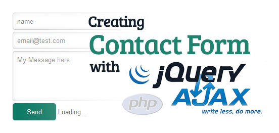 Simple Contact form using Jquery Ajax & PHP