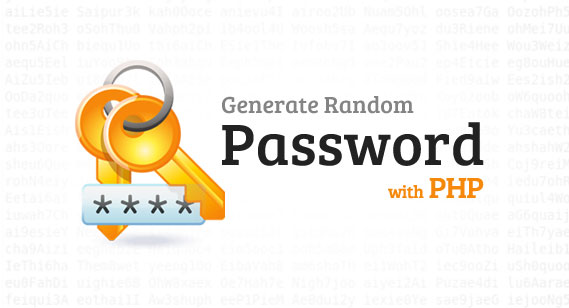 generate random password with php