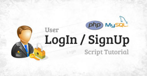 simple php user login / signup script tutorial