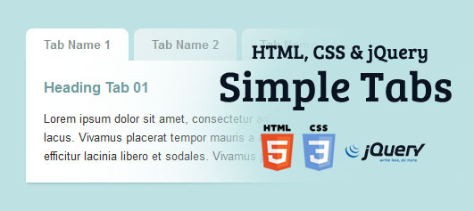 Creating Simple Tabs HTML, CSS & jQuery - Tutorial