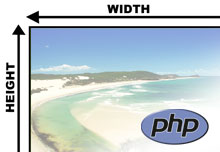 Get image width and height in PHP